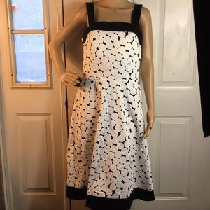 NWT-R & K originals black /white polka dot dress